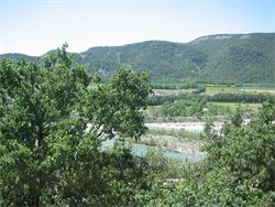 Un tramo del rio Matarraña